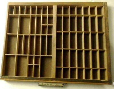 Printers Tray Antique Letterpress Hamilton California Type Case Shadow Box