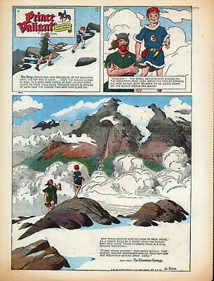 """ARTIST HAL FORSTER's """" PERSONAL """" COPIES OF 51 1956 PRINCE VALIANT SUNDAYS"""