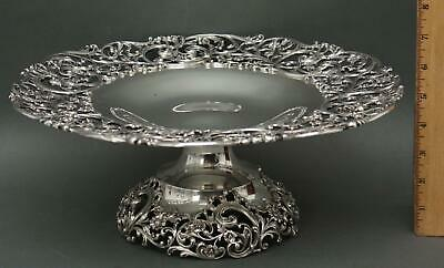 1905 Antique Victorian Howard & Co New York Sterling Silver Dessert Compote Tray