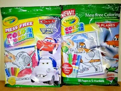 lot x 10 Crayola Color Wonder Disney Planes Coloring Book and Markers NEW