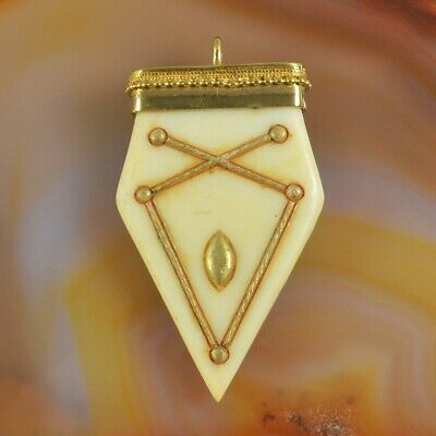 BOHO Tribal Gothic Pattern Cream Resin Point Golden Charm HOT T074886