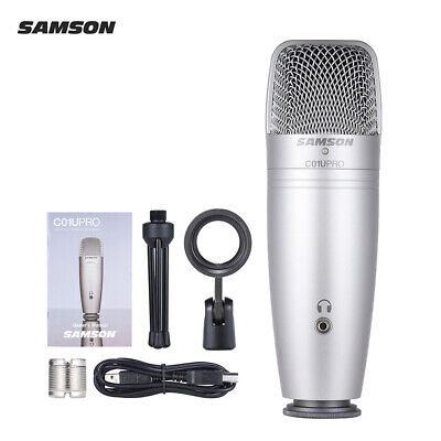 USB Studio Condenser Recording Microphone Mic Large Diaphragm NEW D0P2