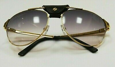 5f9e2b224a2f8 Cartier Paris special -EDITION SANTOS - DUMONT- GOLD Plated Exclusive  sunglasses
