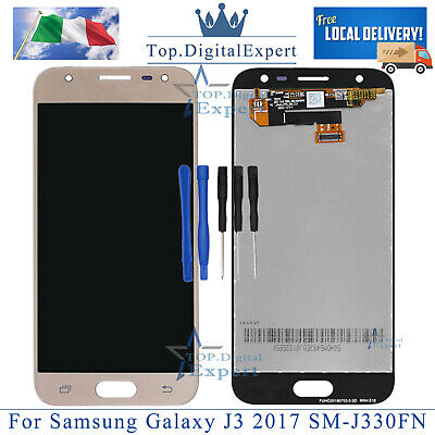 Per Samsung Galaxy J3 2017 SM-J330FN LCD Display Gold  Touch Screen Schermo Oro