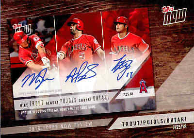 2019 Topps Series 1 Mike Trout/Pujols/Shohei Ohtani Topps Now Review #TN-9