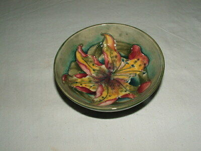 Moorcroft Art Deco Rare Tiger Lily Footed Bowl Truly  Fabulous