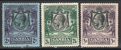 Lot Gambia 1922, mint, combine shipping 79