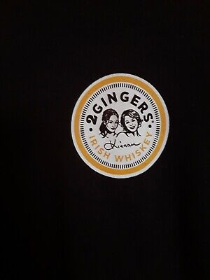 Two 2 Gingers Whiskey  Cocktail Lounge Pub Bar Ireland Brown T Shirt Large