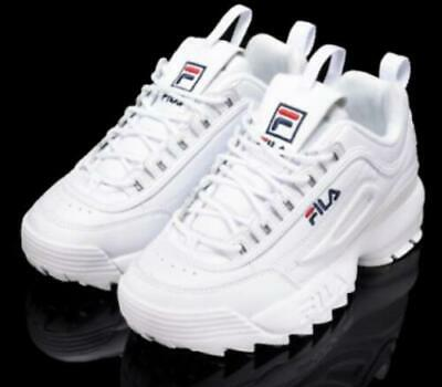 FILA Womens Disruptor II 2 Sneakers Casual Athletic Shoes Unisex Size 36-44