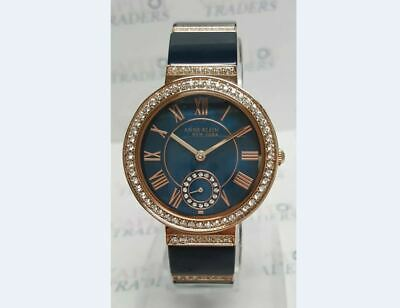 Anne Klein 12/2300NVRG Rose Gold Tone/Navy Crystal Accent Women's Watch