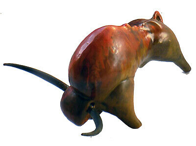 "OUTSTANDING Mid Century MCM Horned Bull Sculpture 10"" Figure Figurine. Red Glaze"