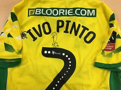 Official Norwich City F.a. Cup Player Issue Shirt - Ivo Pinto