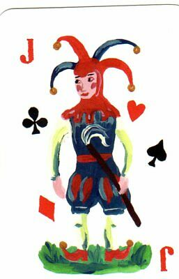 """RARE MINT """"Multi-coloured/Card Suits"""" JOKER Playing Card #222"""