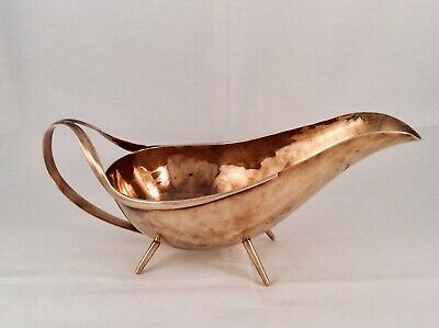 Rare Arts & Crafts CHRISTOPHER DRESSER ?? Footed Copper Sauce/Gravy Boat C1880