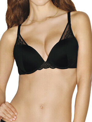 e2f890693d2f7 Wonderbra Modern Chic Sexy Deep Plunge Triangle Push Up Bra W065Y Underwired