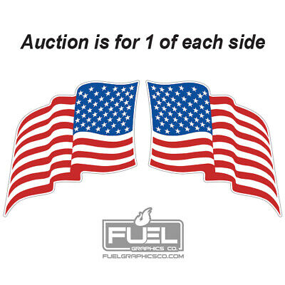 US Flag Premium Vinyl Decal 2-Pack Multiple Sizes available Made in USA