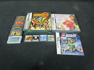Lot of 12 Nintendo Handheld Cartridge Games Gameboy Advance & DS - Tested (140)