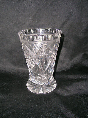 1920 Art Deco Kristall Fußbecher in Art des Biedermeier