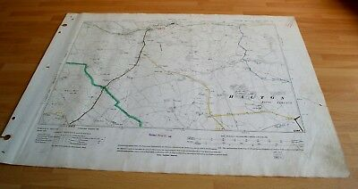 Antique Map original 1910 Halton West, Wigglesworth, Skipton Div Highways Map 54