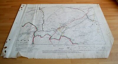 Antique Map original 1909 Elslack, Thornton, West Marton, Coates, Highways Map61