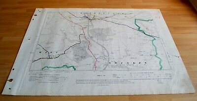 Antique Map original 1910 Hellifield, Halton West, Swinden Skipton Highway Map52
