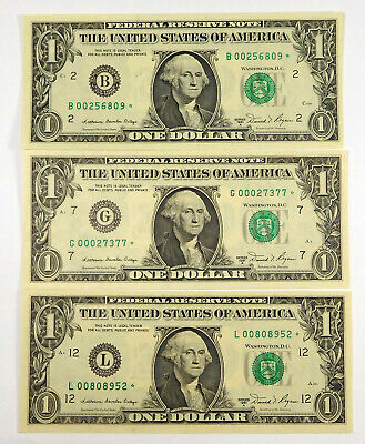 1981 1$ STAR Notes (3 Different Blocks)