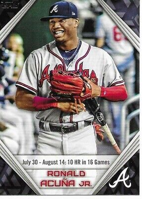 2019 Topps Series 1 Ronald Acuna Jr Walmart Inserts- Complete Your Set- $2.99