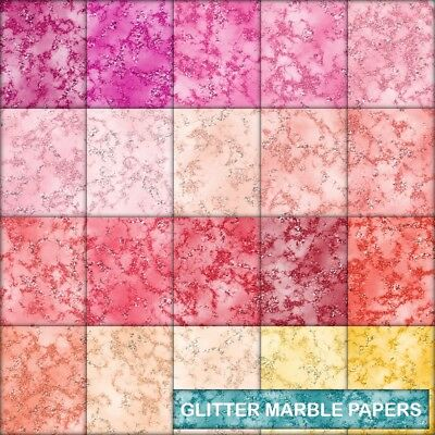 Texture Glitter Look Marble Scrapbook Paper - B - 20 A4 Pages