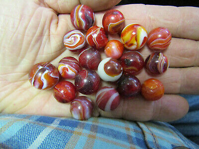 Unusual Antique Marbles Group Of 19 Estate Found No Reserve