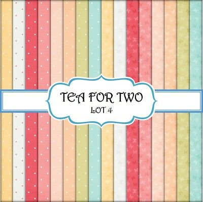 TEA FOR TWO - LOT 4  SCRAPBOOK PAPER - 16 x A4 pages