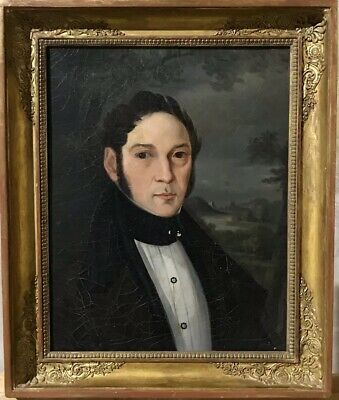 Fine Early 19Th Century French Portrait Of Gentleman - Empire Period Gilt Frame