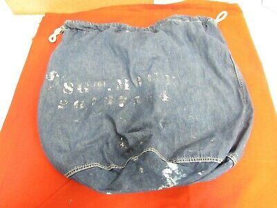 Pre WWII era US Army blue jean denim material laundry bag.   JP