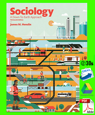 [PDF] Sociology - A Down To Earth Approach 13th Edition 🔥 Fast Email Delivery