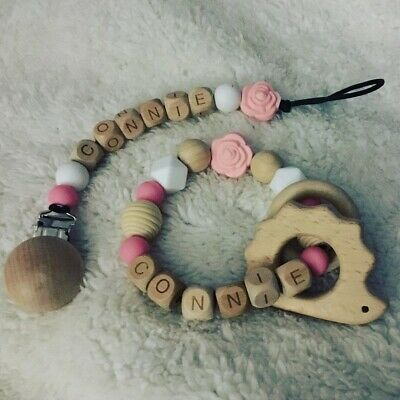 Personalised Dummy Clip & Teether Set