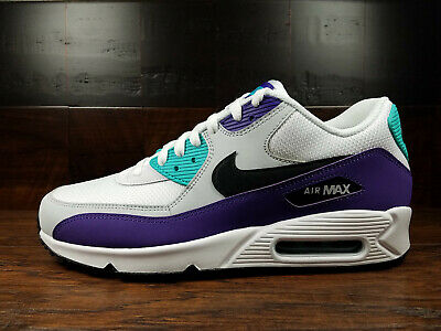 cheap for discount 00bf3 23390 Nike Air Max 90 Essential (White   Black   Hyper Jade)  AJ1285-
