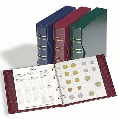 Numis Classic Album With Slipcase Including 5 Different Pockets, Blue  313617