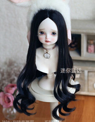 "1//3 8-9/"" BJD Doll Wig Soft Blonde Curly Wavy Hair Wave Long Graceful F"
