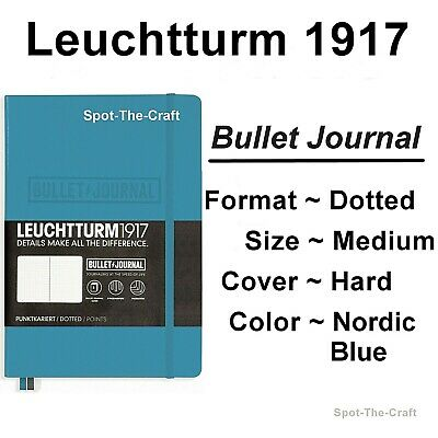 Leuchtturm1917 Bullet Dotted Journal Notebook Medium A5 Nordic Blue 357675