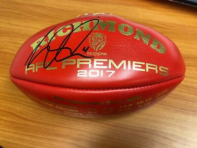 Dustin Martin Hand Signed Richmond Tigers 2017 Sherrin Afl Premiership Football