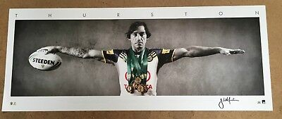 Johnathan Thurston North Queensland Cowboys Signed Wings Official Print