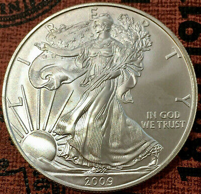 2009  $1 US Silver American Eagle Coin 1 Troy Ounce .999 Fine Silver USA