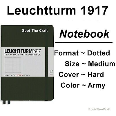 Leuchtturm1917 - Dotted Journal / Notebook - Medium A5 - Army