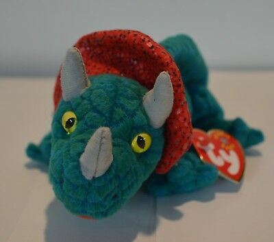 TY Beanie Baby - HORNSLY the Dinosaur - Pristine with Mint Tags - RETIRED a600d4d62370
