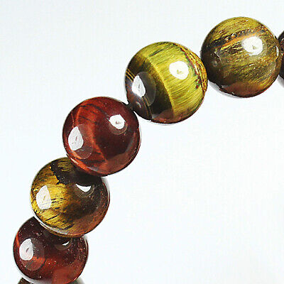 204.8Ct 100% Natural African Tigereye Colour  Bead Bracelet BHY1325
