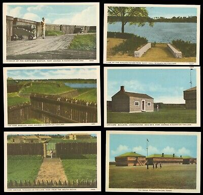 Lot of 6 - FORT GEORGE NIAGARA ON THE LAKE - Unposted Vintage Military Postcards