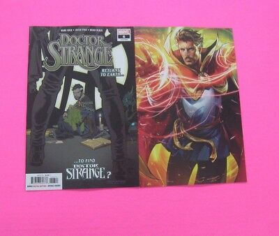 Doctor Strange # 6 COMIC A & B LEE Variant BATTLE LINES MARVEL 2018 DR 2 LOT