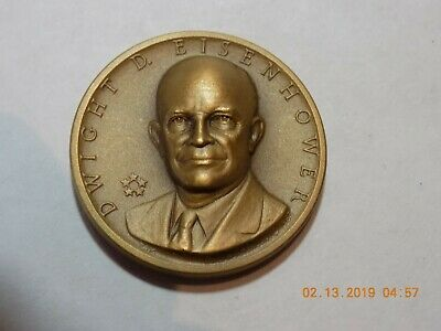 DWIGHT D. EISENHOWER - Medallic Art Co. 33mm Bronze Presidential Medal - BU