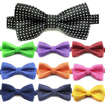 Polka Dot Pet Bow Tie Adjustable Dog Collar Puppy Cat Necktie Bowtie Accessories