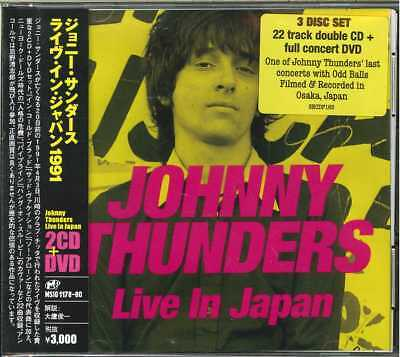 Johnny Thunders-Live In Japan-Import 2 Cd+Dvd With Japan Obi G88