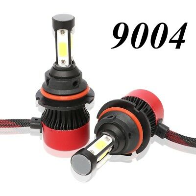 4-Sides 9004 HB1 LED Headlight Kit 16000LM 6000K 72W High Low Beams White Lamps